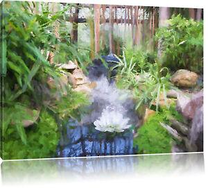 Détails sur Zen Jardin Japon Art Pinceau Effet Image de Toile Décoration  Murale