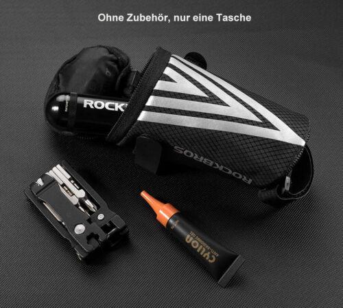 ROCKBROS Satteltasche Fahrradtasche Werkzeugtasche für MTB Rennrad Sitztasche