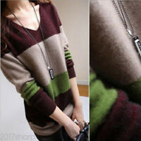 Women Casual Knitted Pullover Long Sleeve Tops Loose Sweater Knitwear Jumper Hot