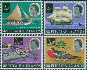 Pitcairn-Islands-1967-SG69-72-Boats-Bird-MNH