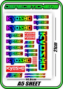KYOSHO RC RACING CUSTOM STICKERS A5 MINI Z 1//8 BUGGY CAR 1//10 DRONE YELLOW B