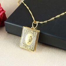 N1 18K Gold Plated Allah Koran Locket Pendant Necklace - Gift Boxed