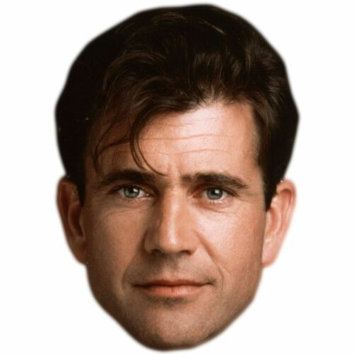Mel Gibson Celebrity Mask Young Flat Card Face