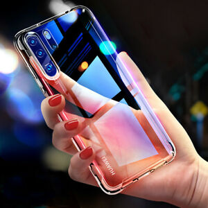 For-Huawei-P30-Pro-Mate-20-Transparent-Airbag-Shockproof-Silicone-Case-Cover