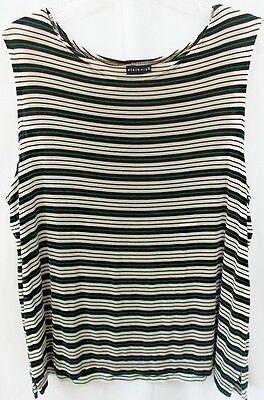 Citiknits Sleeveless Slinky Striped Travel Top, Size 1X, LOTFLAPR#N