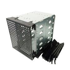 "5.25"" to 5X 3.5"" SATA SAS HDD Hard Drive Cage Adapter Tray Caddy Bracket PC DIY"