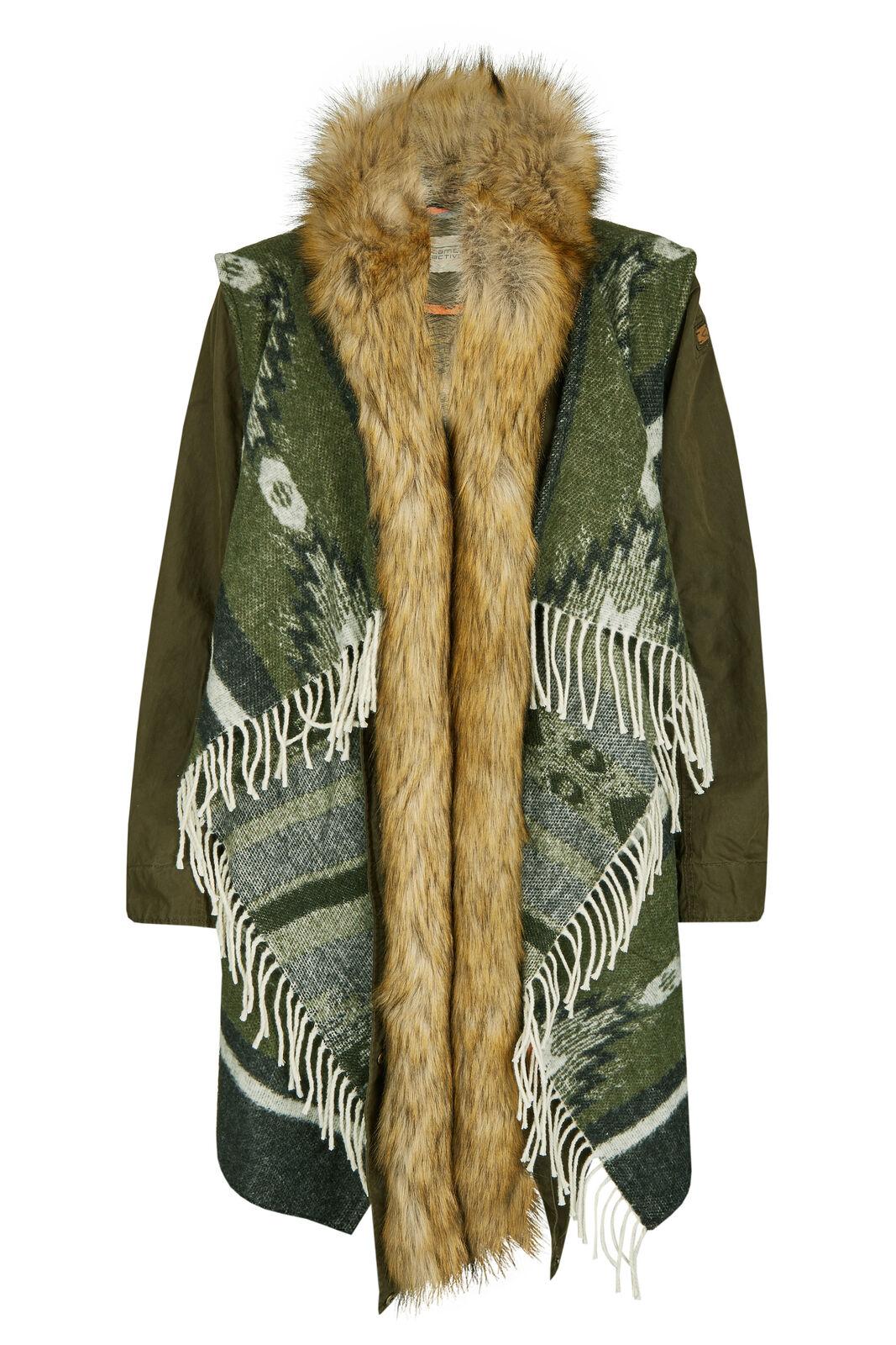 Camel active Damen 2in1 Jacke Plaid Parka Winterjacke grün 310831 8-62 35 NEU
