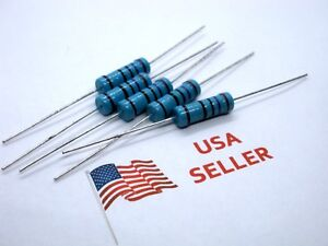 3W-3-Watt-1-Tolerance-Metal-Film-Resistor-5-Pieces-USA-SELLER