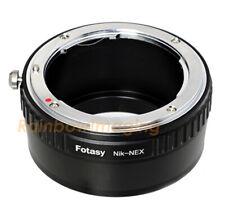 Nikon F Mount Lens to Sony E-Mount NEX Adapter NEX-F3 a6000 a5000 a3500 a6300