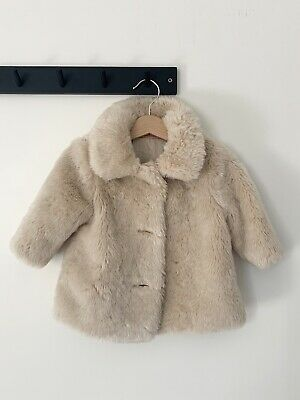 Baby Girl Mothercare Faux Fur Coat Age, Fur Coat For Baby Girl