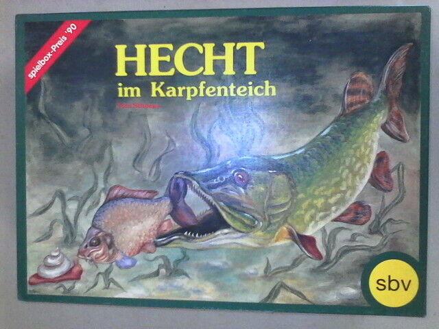 Hecht im karpfenteich difícil de encontrar vintage Juego de T Schoeps rara