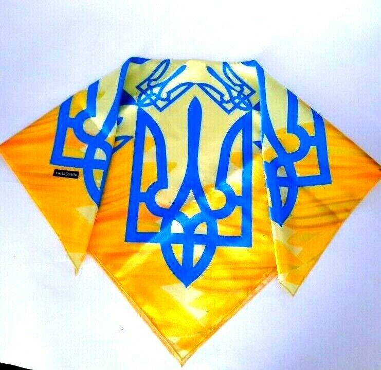 Satén de seda de Armas Ucrania Cuadrado Bufanda Bufandas pañuelos Sport Juegos Olímpicos Rio 2016