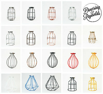 INDUSTRIAL LIGHT BULB LAMP CAGE GUARD | various shapes and colours