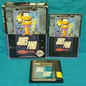 James-Pond-Underwater-Sega-Genesis-Working-Box-Cover-Art-Manual-Game-Authentic