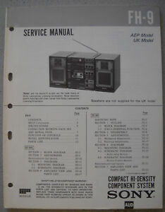 SONY-FH-9-Service-Manual-inkl-Supplement-Nr-1