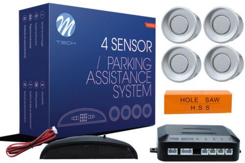 kit montaggio universale Sensori pdc parcheggio CP4 21,5m buzzer Grigio argento