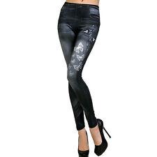 Damen Hose Leggins Leggings Jeggins Jeans Look Stretch Röhre Slim Damenhose NEU