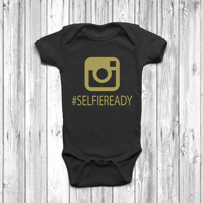 #selfieready Baby Baby Grow Tuta Gilet Baby Shower Regalo Carino Hashtag- Pacchetto Elegante E Robusto