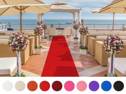 Roter Teppich Hochzeitsteppich Eventteppich 2m Breite VIP Event Läufer Messe