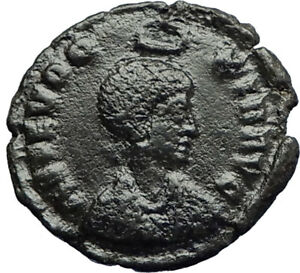 EUDOXIA-Arcadius-Wife-401AD-Authentic-Ancient-Roman-Coin-VICTORY-CHI-RHO-i70717