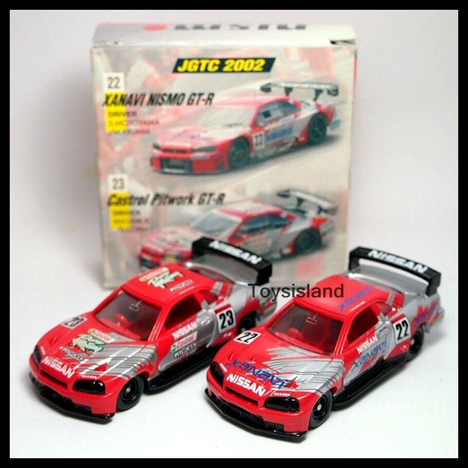 TOMICA NISMO 2002 JGTC Castrol PITWORKS XANAVI NISSAN SKYLINE GT-R R34 SET 22 23
