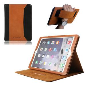 Brown-100-Genuine-Leather-Case-Sleep-Wake-Smart-Cover-for-Apple-iPad-9-7-2017