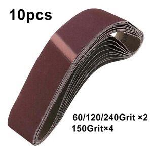 10PCS New 40x680mm Sanding Belt 60 120 150 240 Grit Mixed Grit For Wood Grinding