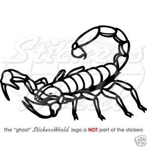 Scorpion Noir Vinyle Autocollants