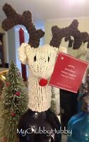 Pottery Barn Reindeer Wine Bottle Topper Sold Out Year Christmas Bar