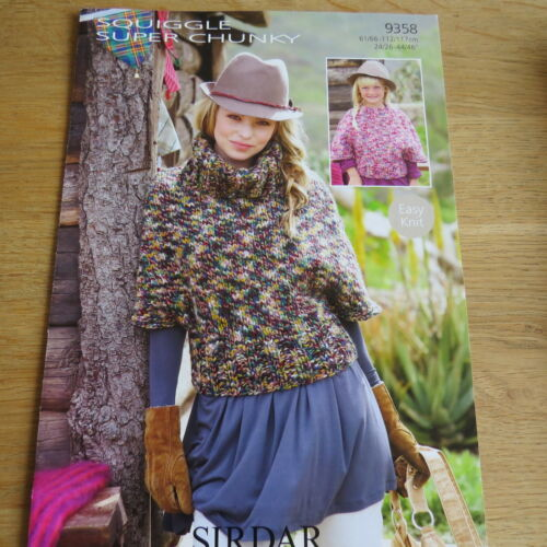 Pattern No Sirdar Squiggle Super Chunky 9358 Sweaters