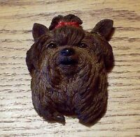 Yorkie Yorkshire Terrier Dog Rubber Fridge Magnet - 2x 3