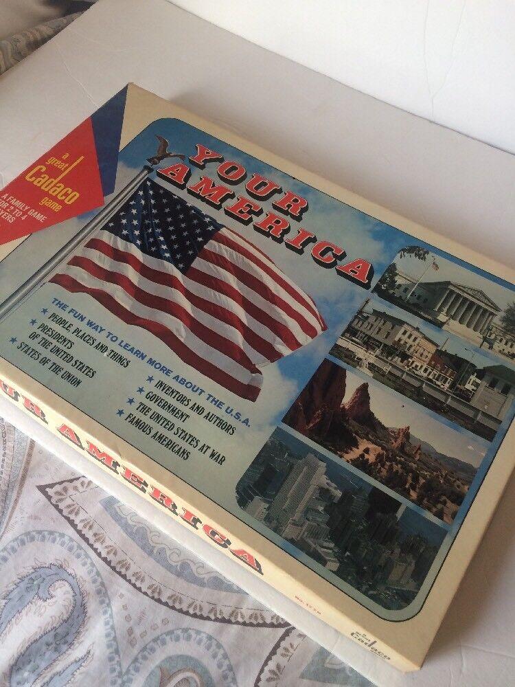 VINTAGE Know  Your America 1970 Cadaco tavola gioco  designer online