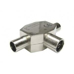 Antena-De-Tv-Coaxial-Coaxial-de-2-vias-T-Splitter-Hembra-a-Macho-2-x-Adaptador-de-Metal-Rf