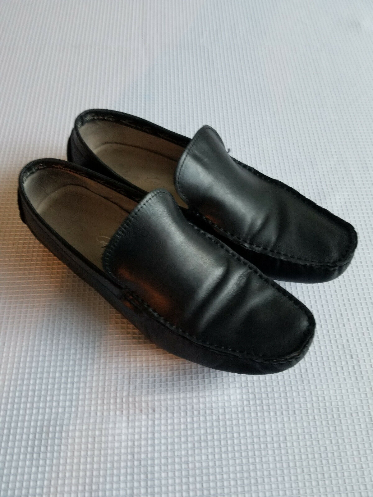 Kenneth Cole Black Leather Casual Loafer Mens 10 Medium
