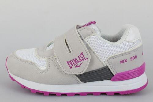 scarpe bambina EVERLAST 28 sneakers beige tessuto lilla pelle nabuk DP412