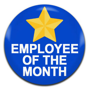 employee of the month blue 25mm 1 inch d pin button badge ebay