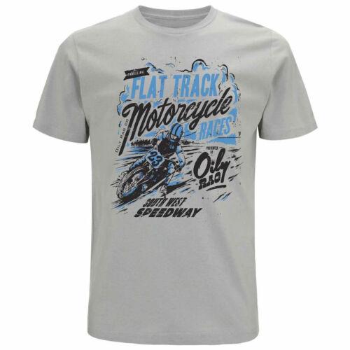 Oily Rag Clothing Flat Tracker T-Shirt Grey