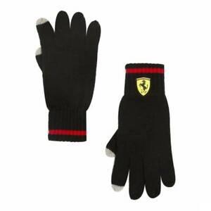 Scuderia-Ferrari-Noir-Gants-Tricot