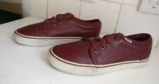 item 3 VANS T375 MENS WOMENS WHITE MAROON RED LEATHER TRAINERS SHOES SIZE UK  6 EU 39 -VANS T375 MENS WOMENS WHITE MAROON RED LEATHER TRAINERS SHOES SIZE  UK ... 5a6f06f68