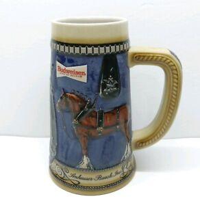 Anheuser-Busch-Inc-1989-1990-Collector-039-s-Series-Budweiser-Beer-Stein