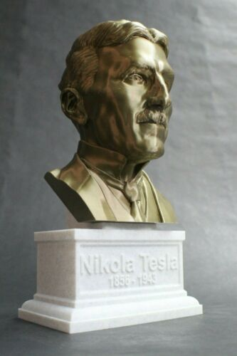 Art Nikola Tesla 3D Printed Bust Famous Engineer and ...