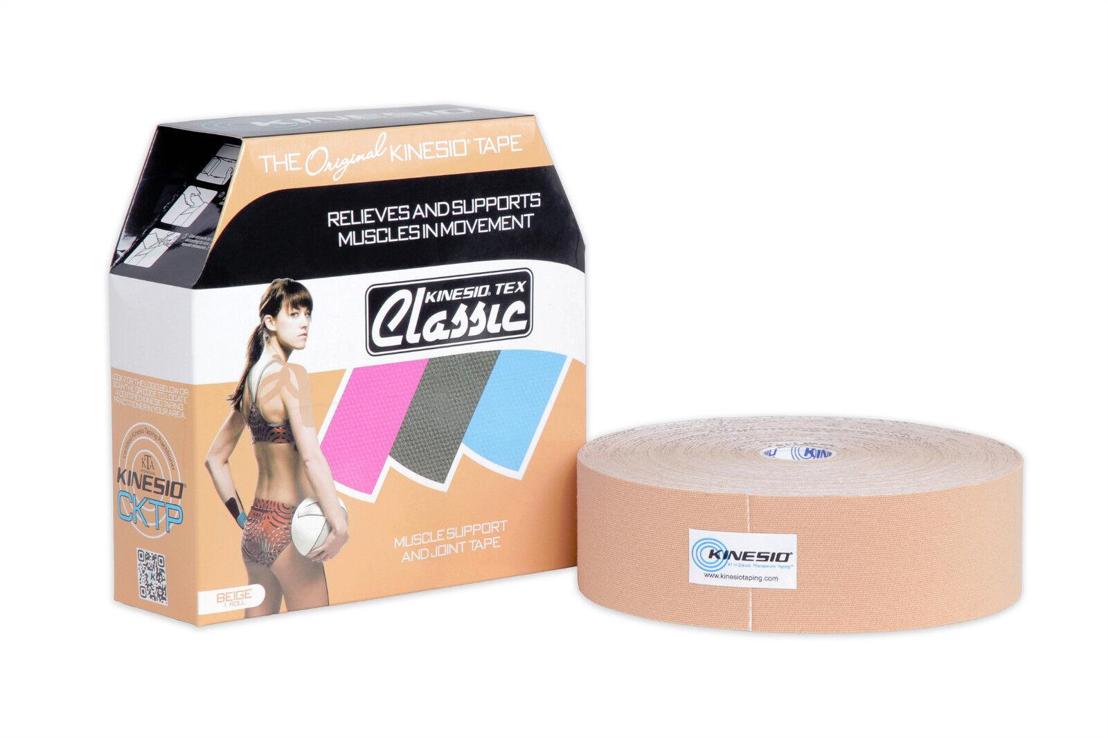 KINESIO Kinesiology Tape CLASSIC Bulk Roll - 31.5m x 5cm BEIGE - The Original