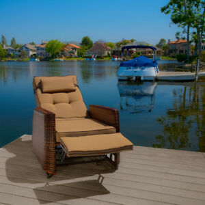 Image Is Loading Outdoor Patio Furniture Wicker Glider Recliner Armchair