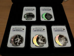 Royal-Canadian-Mint-2008-25-Olympic-5-Coin-Set-NGC-PF69-Ultra-Cameo-W-Holograms