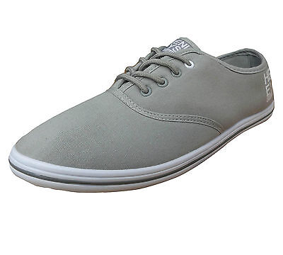 Henleys Men's Stash Canvas Trainers Grey