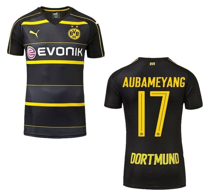 Trikot Puma Borussia Dortmund 2016-2017 Away - Aubameyang  BVB Fussball  | Spielzeugwelt, spielen Sie Ihre eigene Welt