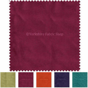 Soft-Plain-Flock-Velvet-Upholstery-Curtains-Chairs-Cushions-Fabric-By-The-Metre