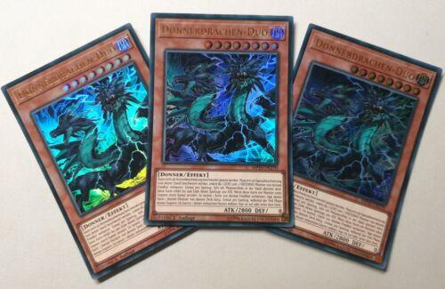 Playset - - Yu-Gi-Oh Thunder Dragon-Duo MP19-DE170 3 Cards