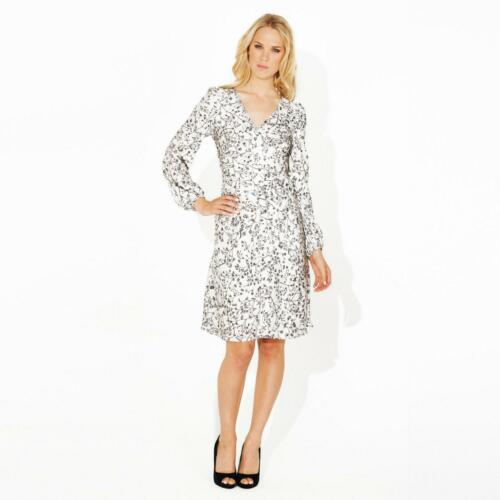 Size Dress Rrp Neck Silver V Long Floral 8 Bnwt Ossie £129 Sleeve Clark nxq0Ppwz8H