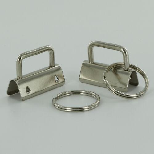 Key Fob Hardware//Split Rings 1 inch wide CHOOSE FINISH//CHOOSE QUANTITY